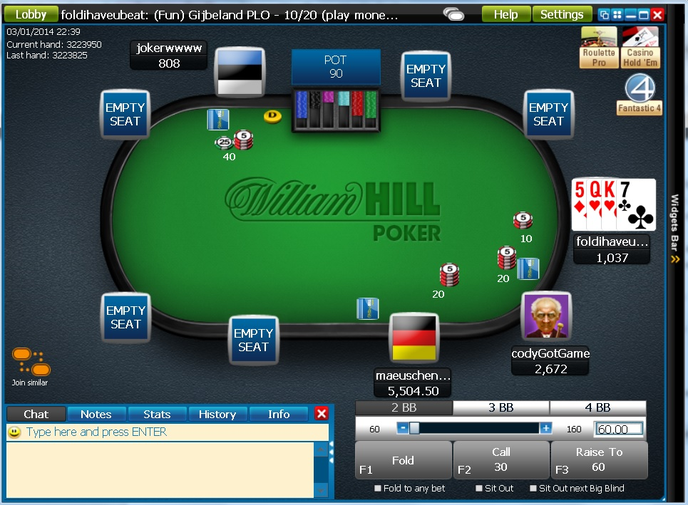 william hill online slots american poker online