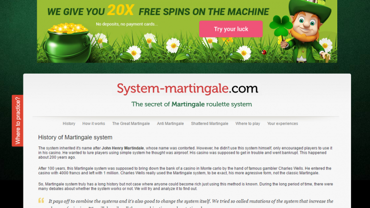 system martingale roulette