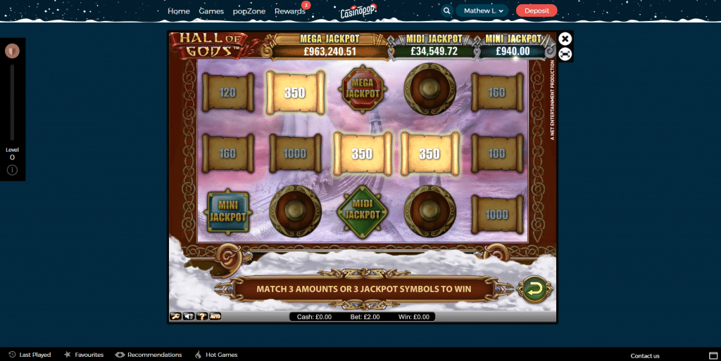 casinopop online slots jackpot hall of gods