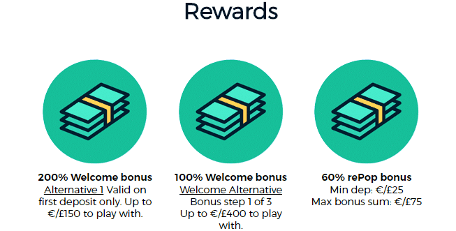 casinopop online casino rewards