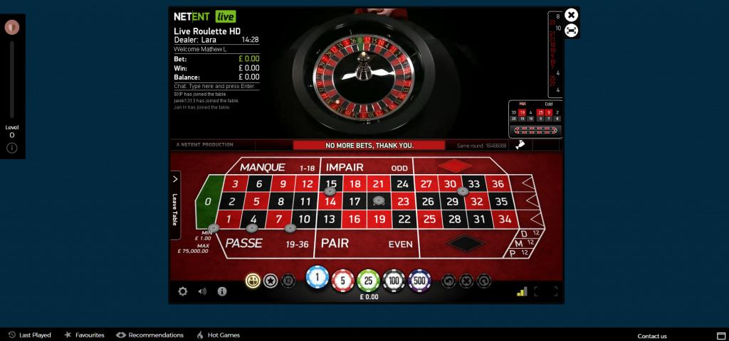 casinopop online live roulette