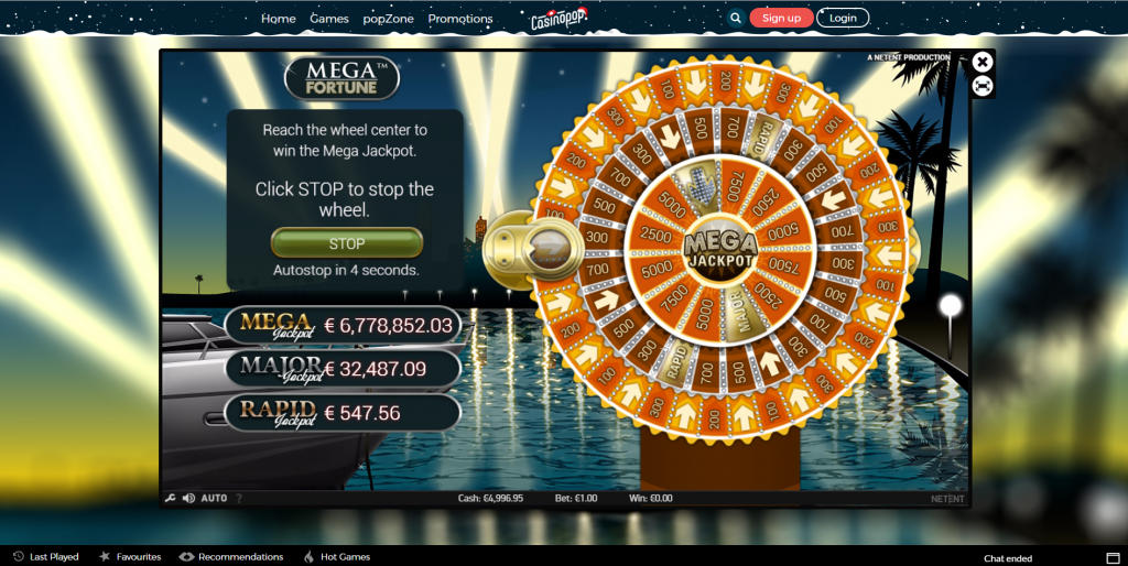 casinopop online slots mega fortune bonus feature