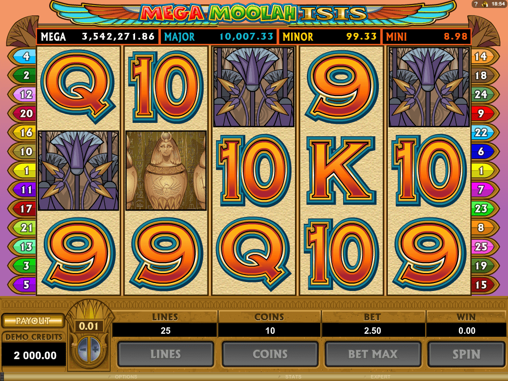mega moolah ISIS jackpot mobile casino slots