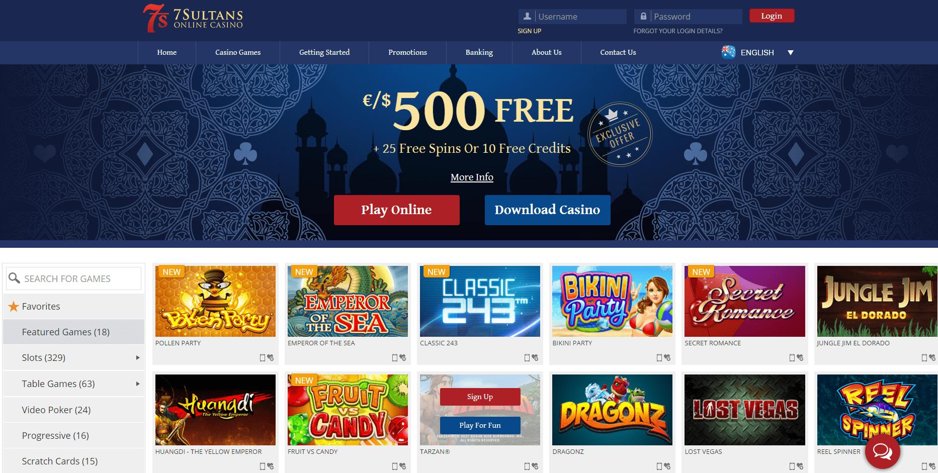7sultans Mobile Casino