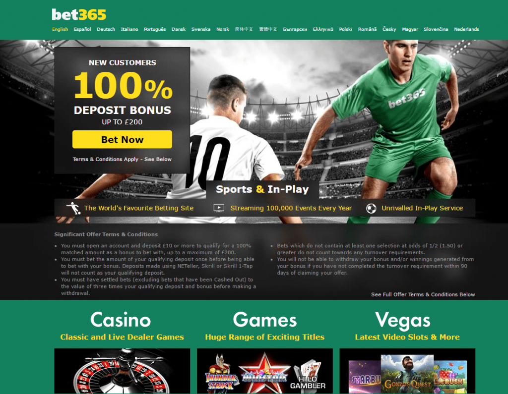 Bet365 casino bonus 100 rules
