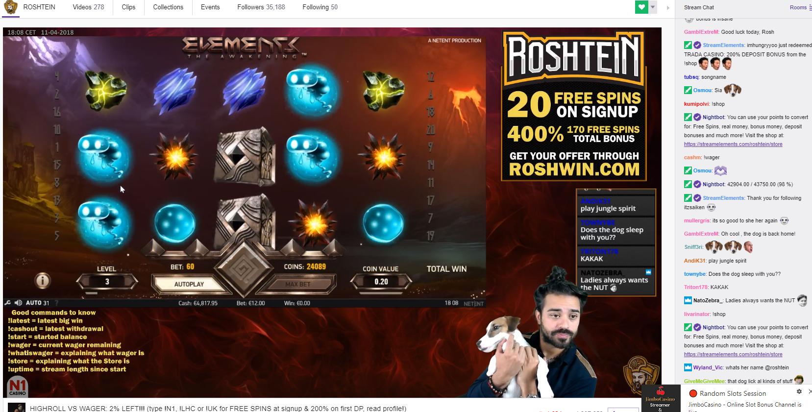 roshtein - online casino streamer