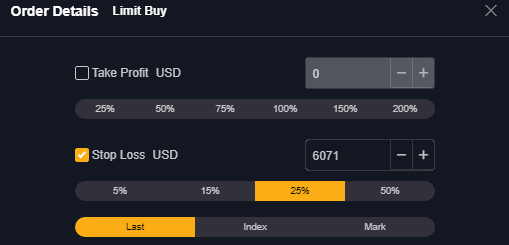 stop loss bybit